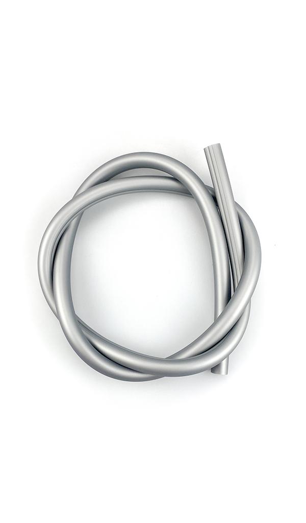 Hadice silikonová iSmoke SoftTouch, stříbrná