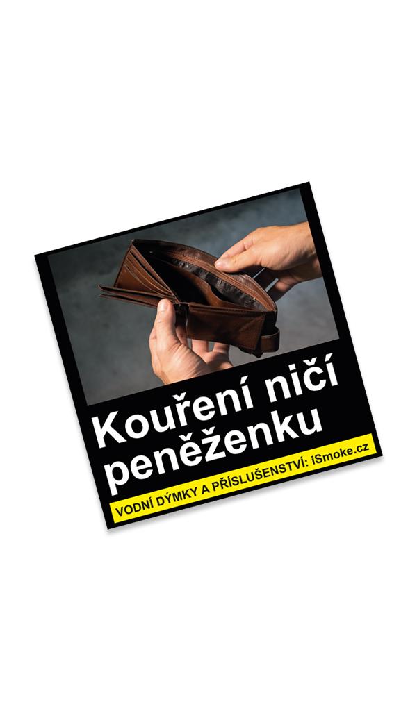 Samolepka Kouření ničí peněženku