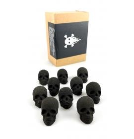 Skull dřevěné uhlí - 10 ks
